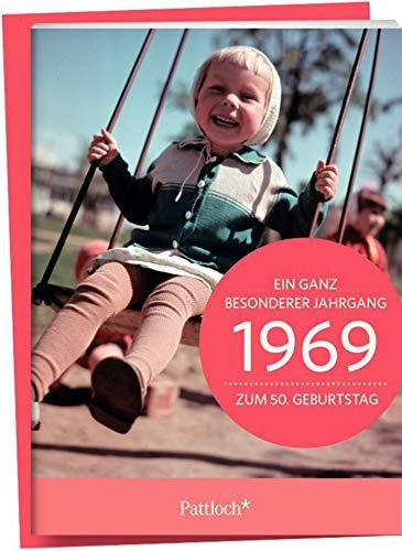 1969 - Ein ganz besonderer Jahrgang Zum 50. Geburtstag: Jahrgangs-Heftchen mit Kuvert (50 Geburtstagskarte)