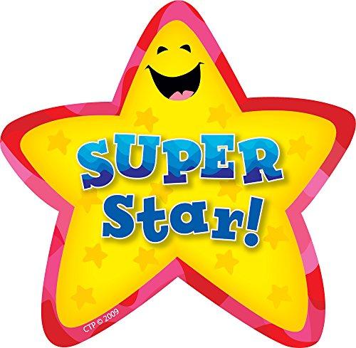 CREATIVE TEACHING PRESS MATERIAL DE INCENTIVO   36 PEGATINAS   AWARD   SUPER STAR  STAR BADGES   STICKERS: LARGE BADGES   (CTP1070)