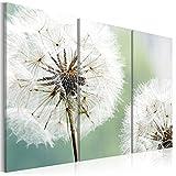 decomonkey | Bilder Blumen Pusteblume 120x80 cm | 3 Teilig | Leinwandbilder | Bild auf Leinwand | Vlies | Wandbild | Kunstdruck | Wanddeko | Wand | Wohnzimmer | Wanddekoration | Deko | Natur