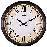 #5: Ajanta Oreva Ajanta Quartz Wooden Finished Plastic Round Shape Wall Clock