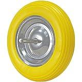Wolfpack 11110068 - Rueda carretilla obra maciza, color amarilla