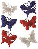 Craftime AC0136U Farbe Anschluss Schmetterlinge mehrfarbig, Filz, Farbe