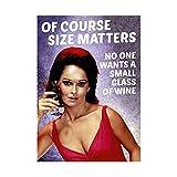 Natürlich Size Matters keine Will Eine kleine Glas Wein Lustige Geburtstag Karten