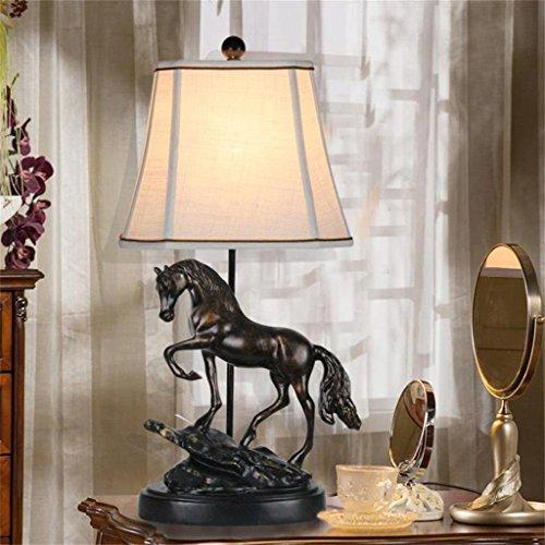 Lampe de table Chambre Table de chevet Lampe d'apprentissage Bureau Lampe Entrée Décoration Personnalisée Cheval Lumière