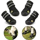 """Royalcare Hundeschuhe Pfotenschutz, wasserdicht mit Anti-rutsch Sole passend für mittlere und große Hunde, schwarz (Updated 5# (2.36""""x2.76""""))"""