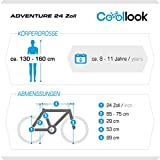 24 Zoll ADVENTURE EU-PRODUKT Jugend Fahrrad Rad Bike Cycling Damenfahrrad Kinderfahrrad Kinderrad Mädchenfahrrad Mountainbike MTB SHIMANO 18-GANG, Weiss -