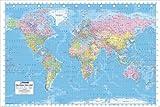 Pirámide Internacional Mapa del Mundo político Póster,, 61x 91,5x 1,3cm