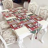 Demarkt Weihnachtlicher Tischläufer Tischfahne Baumwolle Leinen Lange Tischdecke Schneemann Schneeflocke Rentier Tischläufer Wandteppich (wie die Bilder)