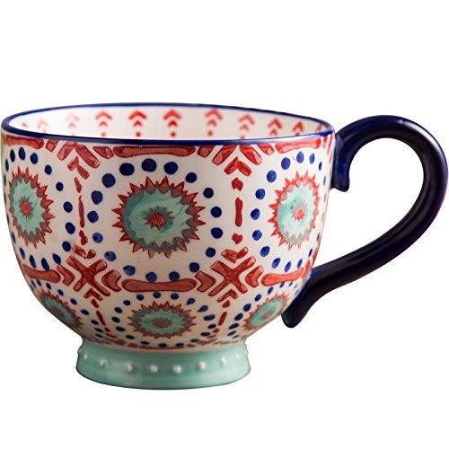 Rentzu Große Tasse Frühstück Tasse Haferflocken Müsli Schale Schale Milch Schale Keramik Bulk Tasse Kaffee Tasse, Schale (Fisch Schalen Bulk)