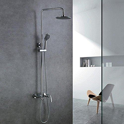ZHGI Doccia in rame per doccia, sollevamento personalizzato di docce calde e fredde, tre funzione doccia a mano, tre controllate leva singola Miscelatore vasca
