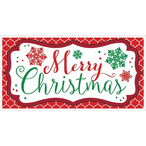 Preisvergleich Produktbild Amscan Holiday Cheers Christmas Party Horizontal Banner (Pack Of 1),  Multicolor,  65 x 33 1 / 2
