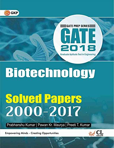 Gate Paper Biotechnology 2018 (Solved Papers 2000-2017)