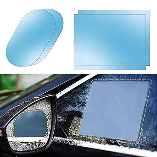 Membrane imperméable à la Voiture Film Film Anti-Pluie pour rétroviseur de Voiture,Conduisez en Toute sécurité Films Nano de revêtement Nano-Clair 4 Pcs