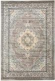 CarpetFine: Pakistan Buchara Teppich 133x190 cm Grau - Ornament