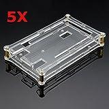 Bluelover Coque En Acrylique Transparent 5Pcs Pour Arduino Mega2560 R3 Module Board