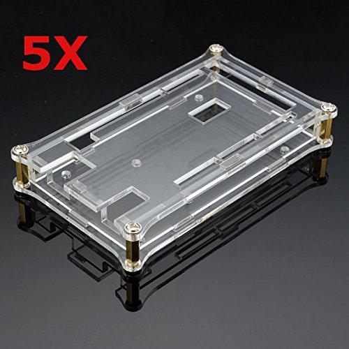LaDicha 5X Scatola di Shell acrilica Trasparente per Scheda modulo Arduino MEGA2560 R3
