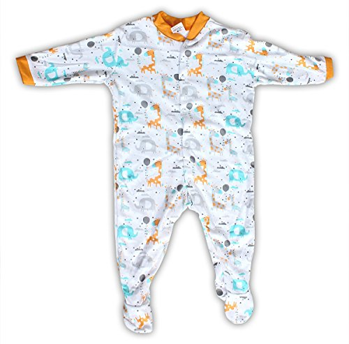 Baby Station Baby Cotton Long Sleeve Sleep Suit Romper Set of 3 (9-12 Months, Unisex)