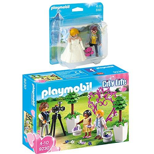 Preisvergleich Produktbild PLAYMOBIL® City Life 2er Set 5163 9230 Duo Pack Brautpaar + Fotograf mit Blumenkindern