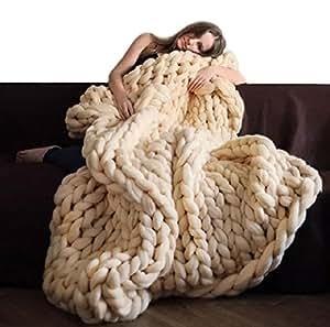 decke stricken wolle garn stricken decke handgemachte. Black Bedroom Furniture Sets. Home Design Ideas