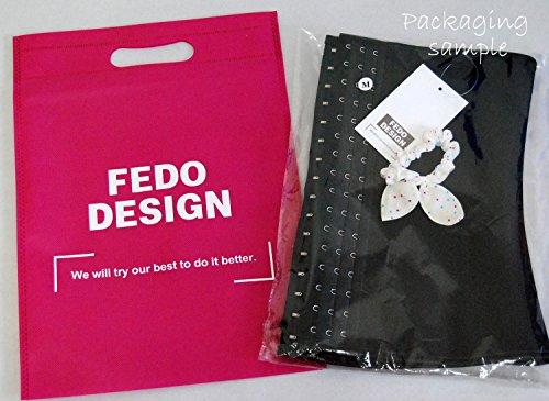 Fedo Korsett-Design 6, Taille Cinchers atmungsaktiv, straffen den, Body-Shaper-Spitze Rosa - Apricot