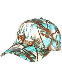 Casquette Baseball Bleu et Marron Tropical - Mixte