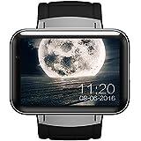 HOIHO intelligente Uhr Telefon MTK6572 Doppelkern 2.2 Zoll HD IPS LCD Schirm 900mAh Batterie 512MB RAM 4GB Rom Kamera Android 4.4 OS 3G WCDMA GPS WIFI ( Color : Silver )