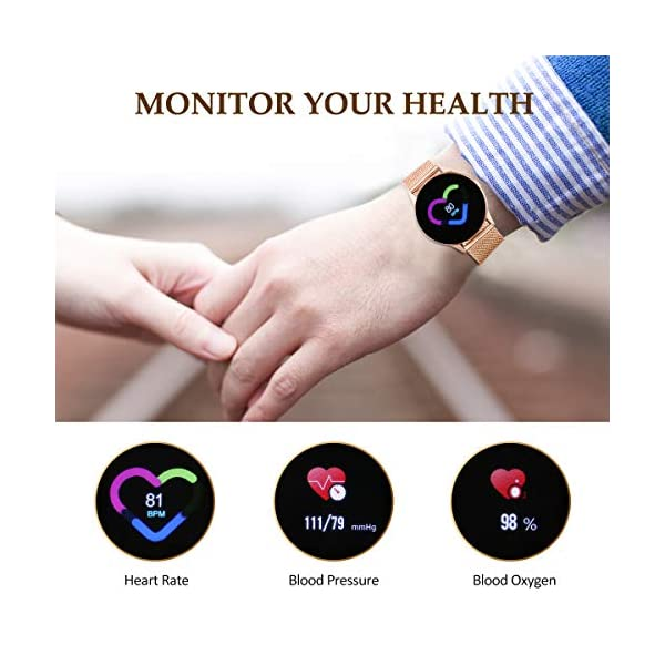 EIVOTOR Smart Watch Sport Fitness Activity Tracker Pulsera Pantalla conectada Touch Podometer Climate Alarm Clock para… 9