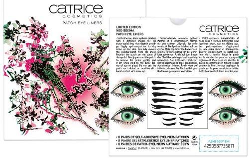 Catrice Cosmetics Limited Edition Neo Geisha Patch Eye Liners Inhalt: 8 Paare Selbstklebende Eyeliner Patches. Farbe: Schwarz Eyeliner Patches zum aufkleben auf die (Make Up Geisha)
