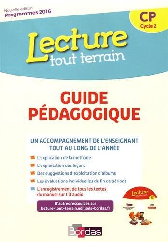 Lecture tout terrain CP : Guide pédagogique (1CD audio)