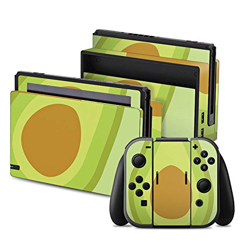nintendo-switch-folie-skin-sticker-aus-vinyl-folie-aufkleber-avocado-frucht-vegan