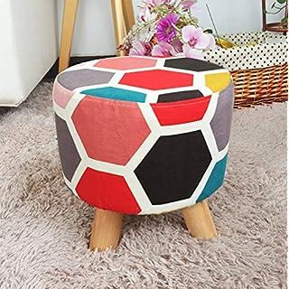 Exquisite Stuhl Stoff kleiner Hocker Kreatives Wohnzimmer einfacher Hocker Sofa Hocker Tür Wechsel Schuh Bank Home Kleine Bank
