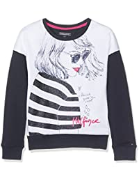 Tommy Hilfiger Girls Panel Print Cn Hwk L/S, Sweat-Shirt Fille