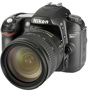 Nikon D80 SLR-Digitalkamera (10 Megapixel) Kit inkl. 18- 70mm 1:3,5-4,5G Objektiv
