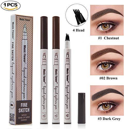 Tattoo Liquid Eyebrow Pencil cuatro puntas tenedor