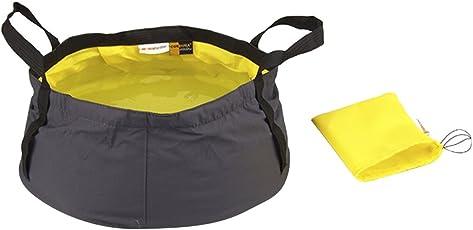 Generic 12L Outdoor Camping Folding Wash basin Bucket Travel Bag Yellow