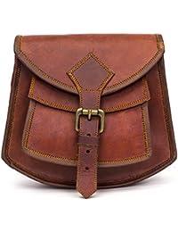 Goatter Genuine Leather Girls And Women Sling Bag Brown Color