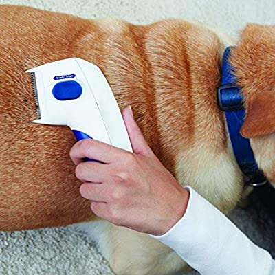 Etophigh New Electric Pet Mites Flea Comb, Head Lice Cleaning Comb & Removal Pet Cleaning Capture Tool Dogs & Cats from Etophigh