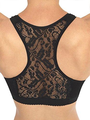 Mamma Mia Fashion PA0854 Büstenhalter Still-BH Made in Italy , aus Weicher Allergiegetesteter Baumwolle, Rückenteil in Shirtform aus Spitzen ohne Häkchen und Vorgeformte Körbchen ohne Bügel (Baumwolle-pflege-sport-bh)