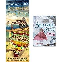 Emma carroll secrets of a sun king,sky chasers,strange star 3 books collection set