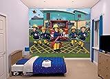 Walltastic 43770 Sam, der Feuerwehrmann, Tapete, Wandbild, Paper, bunt, 52,5 x 7 x 18,5 cm