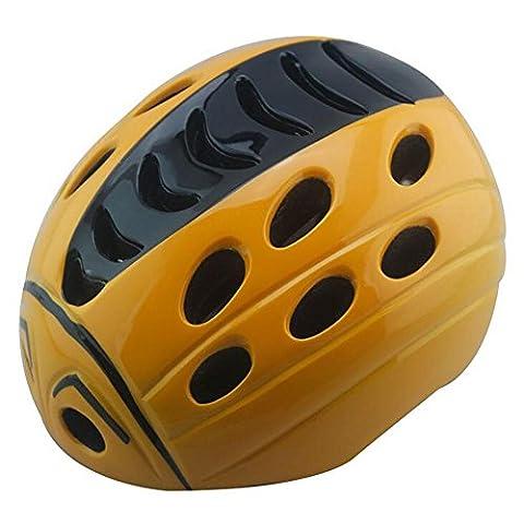 Lei HuanLeBao Bicycle Helmet Child Safety Cute Ladybug Helmet Removable Bicycle Helmet Mount Helmet Guard , Orange