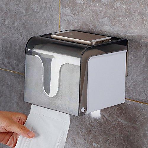 Wasserdicht Wc Papierhalter,Badezimmer Wc Rollenhalter,Wandhalterung Schlag Frei Regal-Trompete