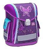 Belmil Ergonomischer Schulranzen Groß Mädchen Grundschule 1, 2, 3 Klasse Schmetterling Butterfly Glitter Lila (404-5 Butterfly)
