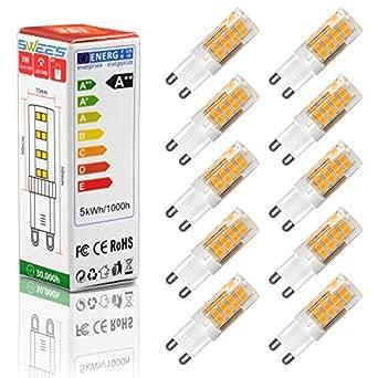 swees 10 x g9 5w led bulb ac220 240v led lamp 51 smd2835. Black Bedroom Furniture Sets. Home Design Ideas