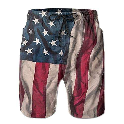 Desing shop Mens USA American Flag Summer Quick-Drying Swim Trunks Beach Shorts Cargo Shorts Large (Oakley Golf Boys)