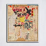 LIEFENGDAO Großformat Druck La Pluie - L'Espace 1962 Malerei Wandmalerei Dekor Wandkunst Bild Für Wohnzimmer Malerei Kein Rahmen, 30X35 cm