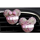 Fanping 2st Mickey Mouse Auto Duft Lufterfrischer Auto Vent Duft Diffusor Color Blue Küche Haushalt