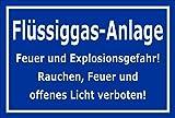 Melis Folienwerkstatt Schild - Flüssiggas-Anlage - 15x10cm   3mm Hartschaum – S00054-F - 20 Varianten