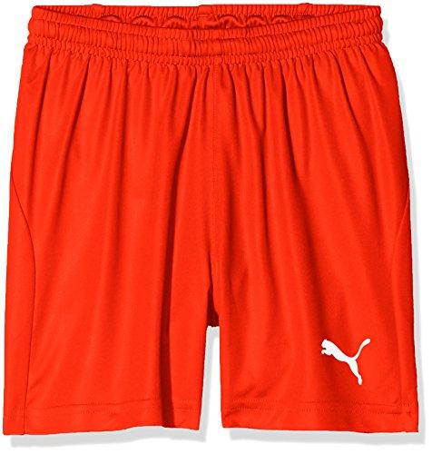 PUMA Kinder Liga Shorts Core w Brief Jr Hose, rot (Puma Red-Puma White), 164