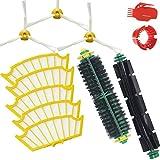 FBSHOP(TM) Kit de accesorios para iRobot Roomba 500 Aspirador 530 550 560 Series -Include 1 Cerda Cepillos & 1x Flexible Beater Cepillos 5x HEPA Filtro 3xcepillos laterales de 3 Armadas 1xclean tool